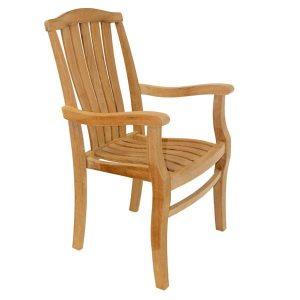 Gainsborough Sustainable Teak Stacking Garden Armchair. Teak chair