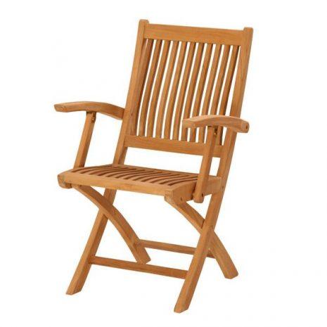 Gainsborough Folding Teak Armchair. Dining folding chair