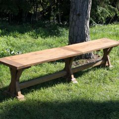 Hockney Reclaimed Teak 200cm Backless Garden Bench