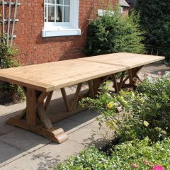 Hockney Extra Large 4m Reclaimed Teak Rectangular Garden Dining Table
