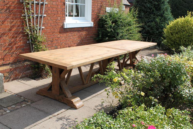 Extra Large 4m Reclaimed Teak Rectangular Garden Dining Table