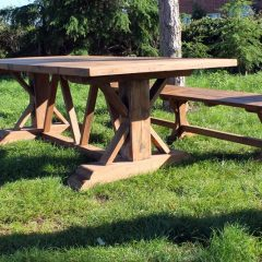 Hockney Reclaimed Teak 240cm Rectangular Garden Dining Table
