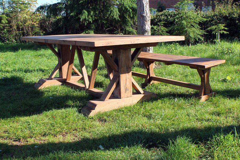 Cool Hockney Reclaimed Teak 3M Rectangular Garden Dining Table Dailytribune Chair Design For Home Dailytribuneorg
