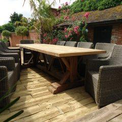 Hockney Reclaimed Teak 2m Rectangular Garden Dining Table