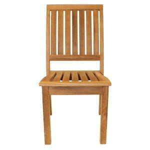 Hogarth Sustainable Teak Stacking Garden Dining Chair - Teak chairs