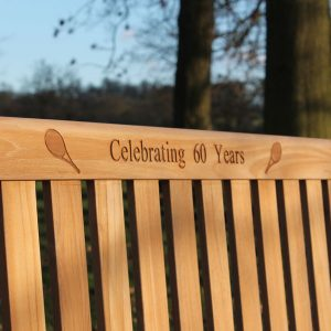 Engraved Bench 60th Anniversary Gift