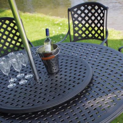 75cm Round Outdoor Metal Lazy Susan. Aluminium