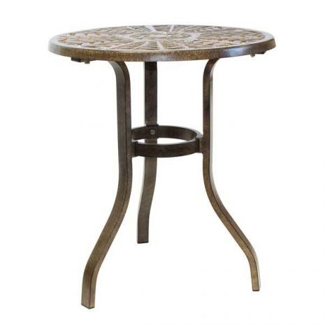 Cinnamon Leaf Aluminium Bistro Table