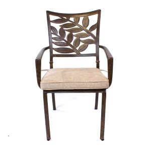 Forest Cast Aluminium Armchair With Cushion. Metal garden furniture