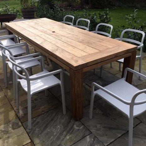 Lowry 280cm Rectangular Teak Dining Table