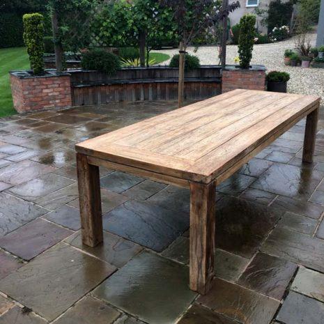 Lowry 280cm reclaimed teak dining table
