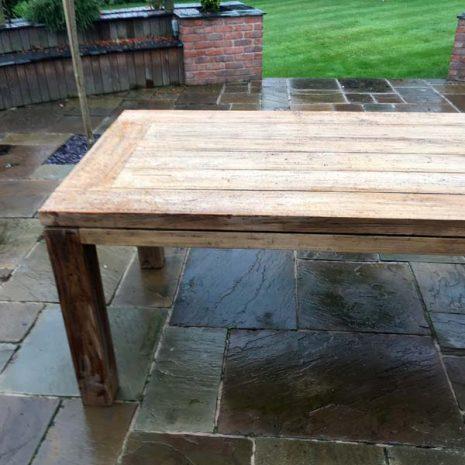 Lowry rectangular reclaimed teak outdoor dining table - Length 280cm