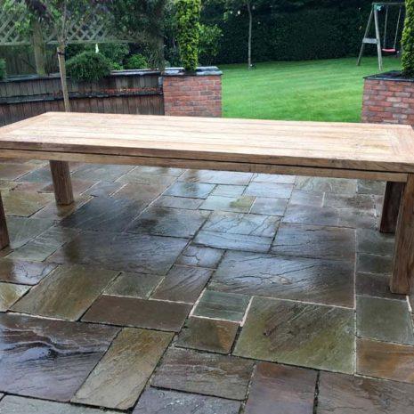 Lowry 280cm rectangular reclaimed teak garden dining table