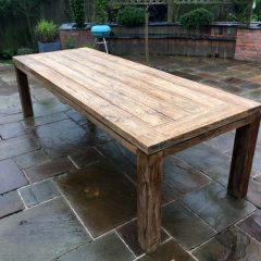 Lowry 280cm rectangular reclaimed teak outdoor dining table