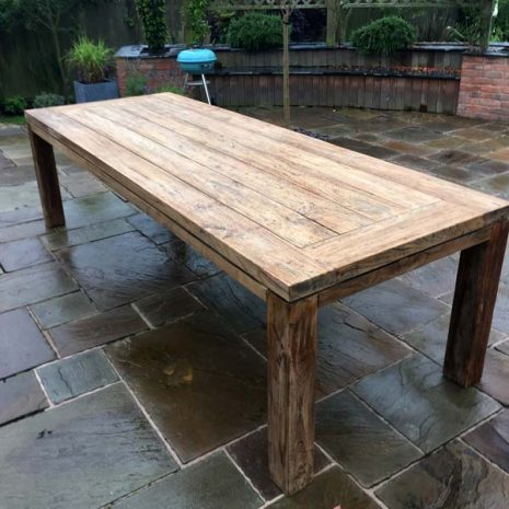 Lowry 280cm rectangular reclaimed teak outdoor dining table