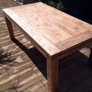 Lowry 220cm Reclaimed Teak Rectangular Garden Dining Table