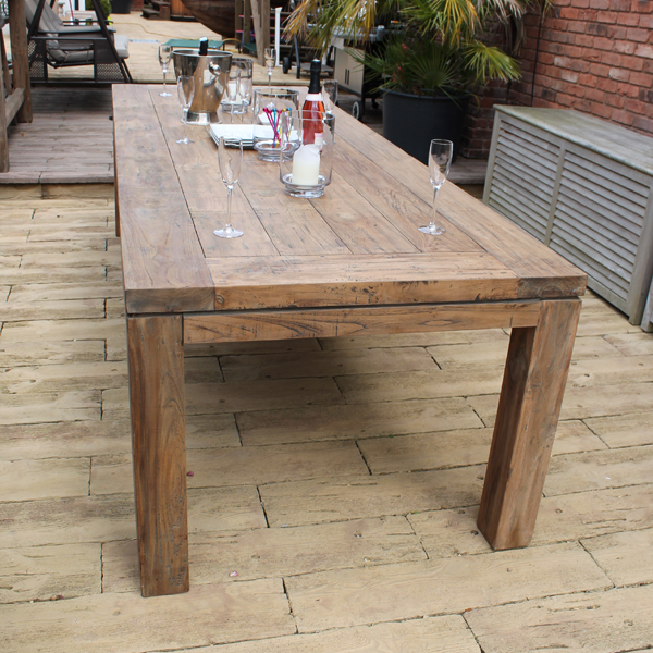 Lowry 240cm 8 Seater Reclaimed Teak, Reclaimed Outdoor Dining Table