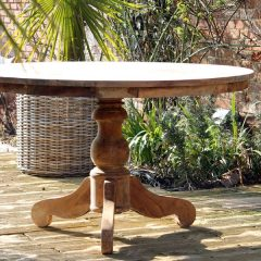 Lowry Small 135cm Reclaimed Teak Round Garden Dining Table