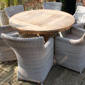Lowry Reclaimed Teak 1.6m Round Table