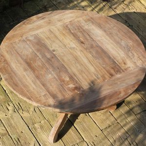 Lowry 160cm Reclaimed Teak Round Garden Dining Table