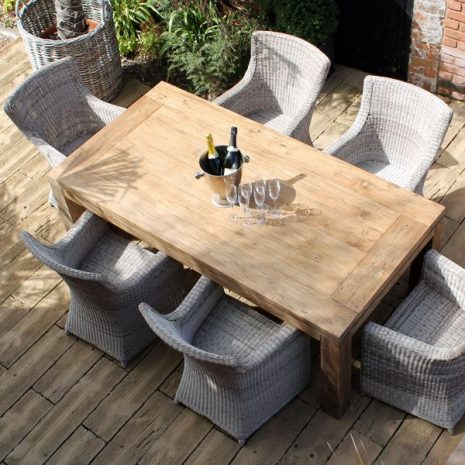 Lowry 2m Reclaimed Teak 6 Person Dining Set