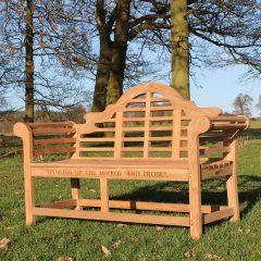 Lutyens Sustainable Teak Classic Garden Bench 150cm.