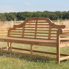 Lutyens Extra Large Teak Garden Bench 240cm