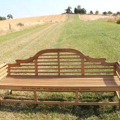 Extra Large Lutyens 2.4m Teak Bench