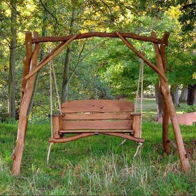 Macaque 2 Seater Oak Garden Swing Seat