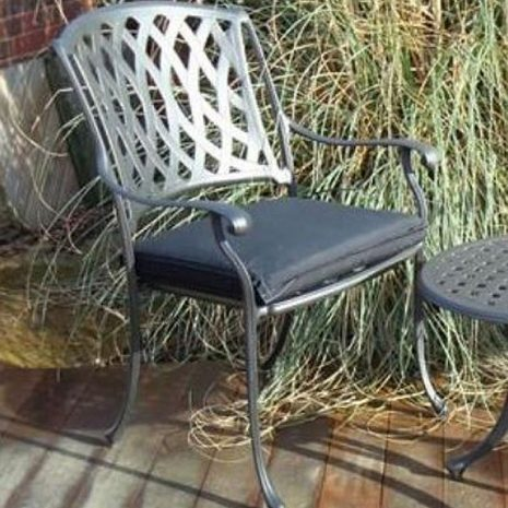 Outdoor Single Seat Cushion Black
