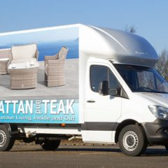 Rattan and Teaks Fleet of Mercedes Luton vans