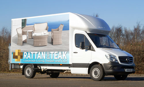 Rattan and Teaks Fleet of Mercedes Luton vans