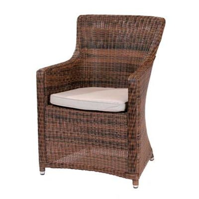 Scarborough Cappuccino Outdoor Rattan Garden Armchair