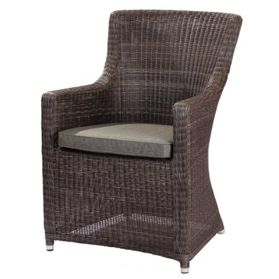 Scarborough Crocodile Brown Outdoor Rattan Garden Armchair