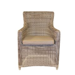 Scarborough White Kubu Outdoor Rattan Garden Armchair