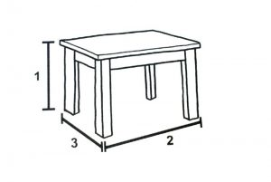 Furniture Dimensions - Dining Table