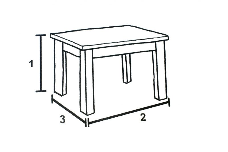 Furniture Dimensions - Table