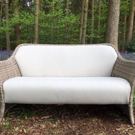 AquaMax Sandbanks Rattan 2 seater sofa in the bluebells