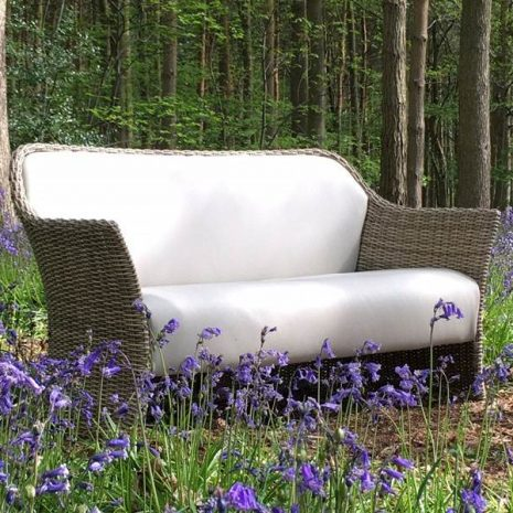 AquaMax Southbanks Rattan 2 seater sofa in the bluebells