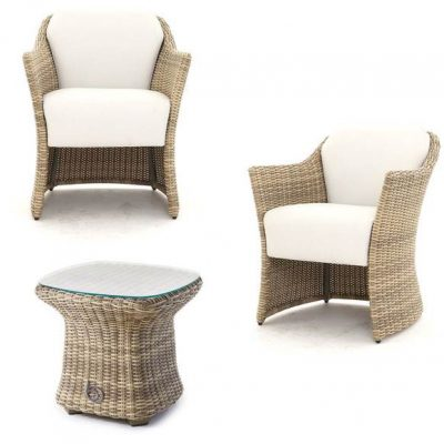 Sandbanks AquaMax Outdoor Rattan 2 Seater Garden Bistro Set