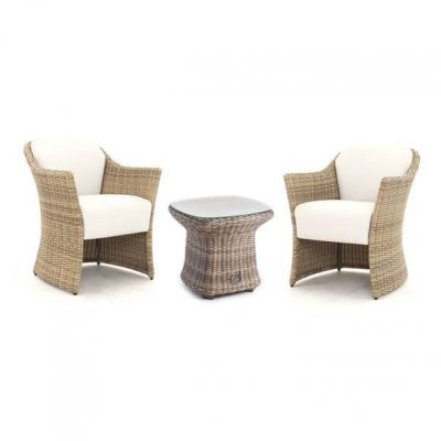 AquaMax Sandbanks Rattan Duo Chair and Side Table Set