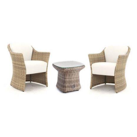 AquaMax Sandbanks Rattan Duo Chair and Side Table Set