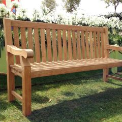 Tennyson 180cm Teak Park Bench. Memorial Bench