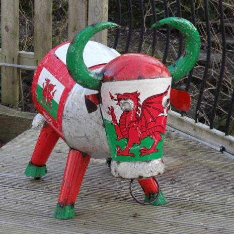 Wales Giant Party Ice Bucket Metal Drinks Cooler - Bertie Bull