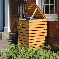 Single Wooden Wheelie Bin Storage Unit. Slatted Wheelie bin cover store