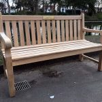 Wordsworth 150cm Teak Bench with Brass Memorial Plaque