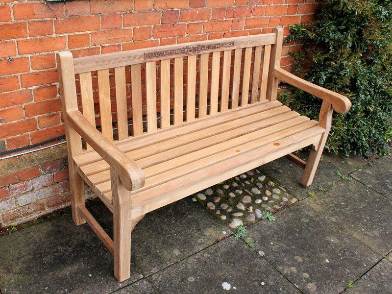 Wordsworth Premium Teak 3 Seater 130cm Garden Bench Hand