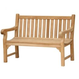 Wordsworth Solid Teak Garden Bench 3 Seater 130cm. Benches for gardens