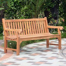 Garden benches on sale. Wordsworth Solid Teak Garden Bench 4 Seater 150cm