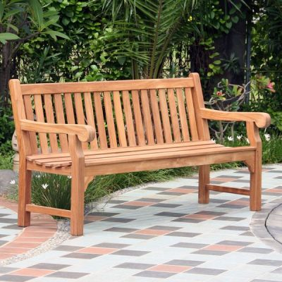 Garden benches on sale. Wordsworth Solid Teak Garden Bench 4 Seater 150cm